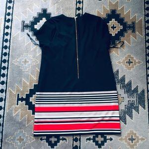 Black & Red Striped Short Sleeve Dress 👗